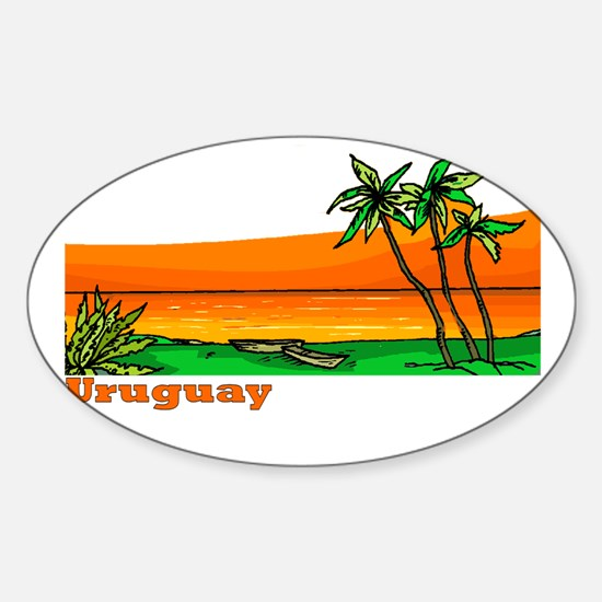 Uruguay Oval Decal
