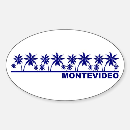 Montevideo, Uruguay Oval Decal