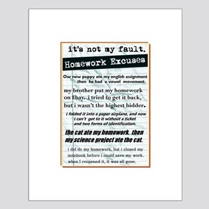 Homework Excuses Small Poster