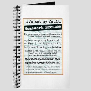 Homework Excuses Journal