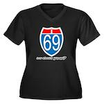 I 69 Women's Plus Size V-Neck Dark T-Shirt