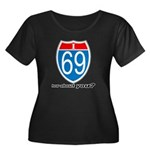 I 69 Women's Plus Size Scoop Neck Dark T-Shirt