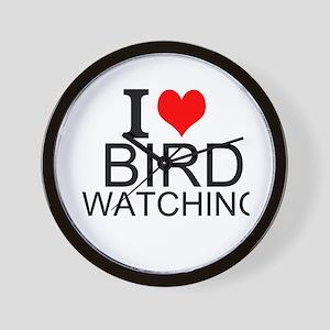 I Love Bird Watching Wall Clock