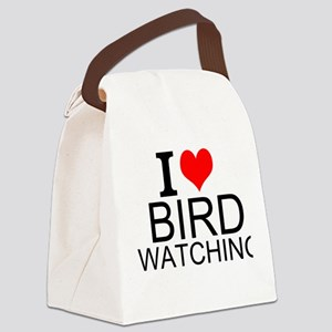 I Love Bird Watching Canvas Lunch Bag
