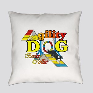 Border Collie Agility Everyday Pillow