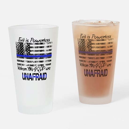 Funny Thin blue line Drinking Glass