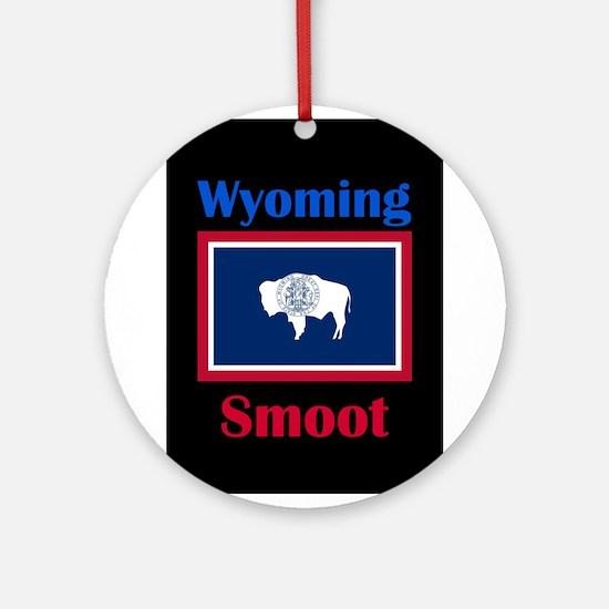 Smoot Wyoming Round Ornament