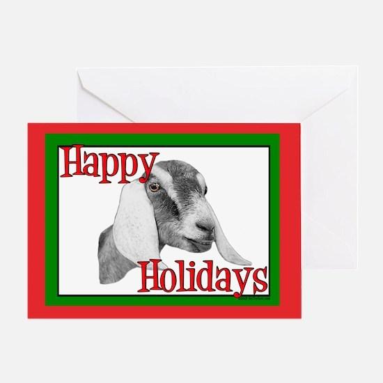Nubian Goat Rose Happy Holidays Greeting Card