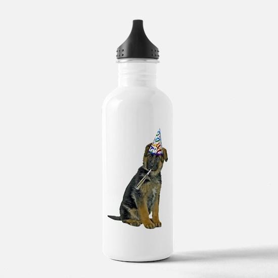 German Shepherd Party Water Bottle