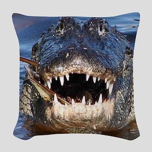 Alligator Woven Throw Pillow
