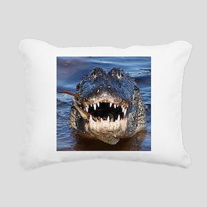 Alligator Rectangular Canvas Pillow