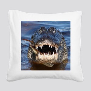 Alligator Square Canvas Pillow