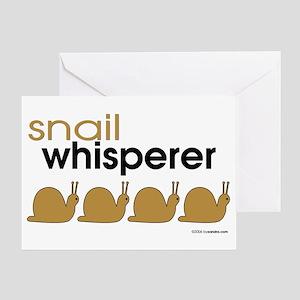 Snail-darker Greeting Card
