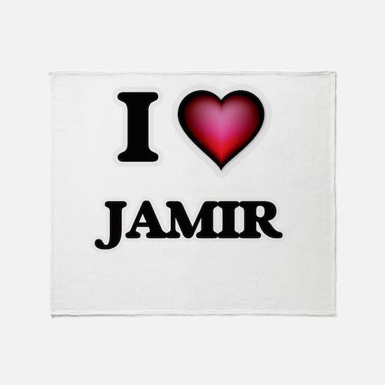 I love Jamir Throw Blanket