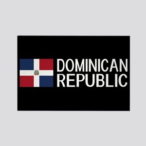 Dominican Republic: Dominican Fla Rectangle Magnet