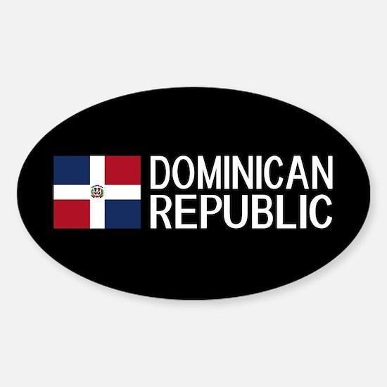 Dominican Republic: Dominican Flag Sticker (Oval)