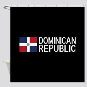 Dominican Republic: Dominican Flag Shower Curtain