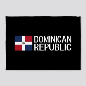 Dominican Republic: Dominican Flag 5'x7'Area Rug