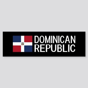 Dominican Republic: Dominican Fla Sticker (Bumper)
