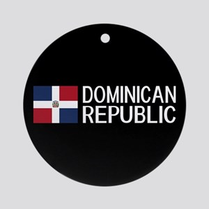Dominican Republic: Dominican Flag Round Ornament