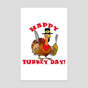Happy Turkey Day Mini Poster Print