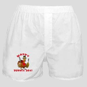 Happy Turkey Day Boxer Shorts