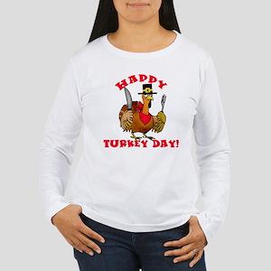 Happy Turkey Day Women's Long Sleeve T-Shirt