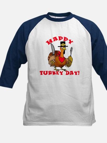 Happy Turkey Day Kids Baseball Jersey