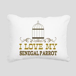 senegal parrot lover bir Rectangular Canvas Pillow