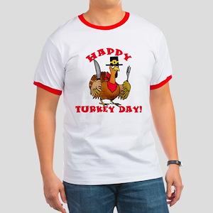 Happy Turkey Day Ringer T