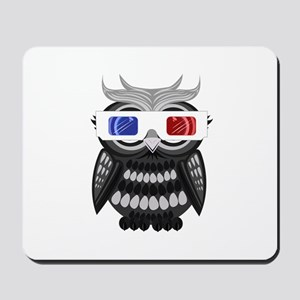 Owl - 3D Glasses Mousepad