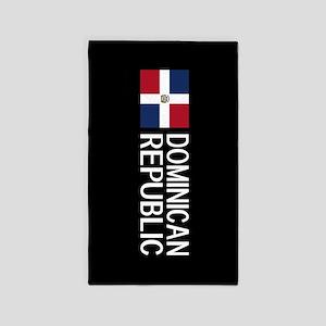 Dominican Republic: Dominican Flag & Domi Area Rug