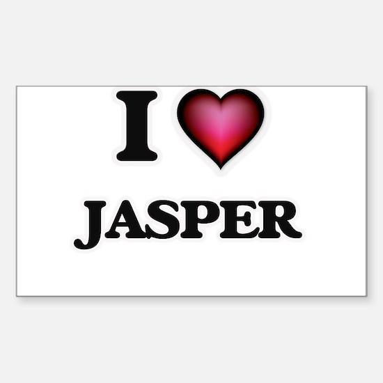 I love Jasper Bumper Stickers