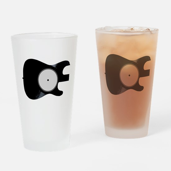 Record Guitar Drinking Glass