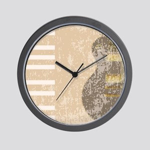 Rock Instruments Background Wall Clock
