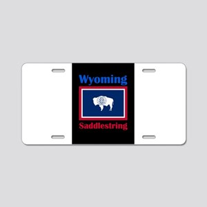 Saddlestring Wyoming Aluminum License Plate