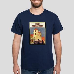 Vintage Santa Barbara Mission Dark T-Shirt