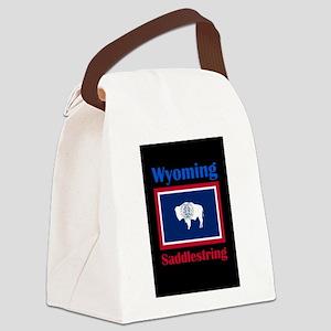Saddlestring Wyoming Canvas Lunch Bag