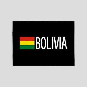Bolivia: Bolivian Flag & Bolivia 5'x7'Area Rug