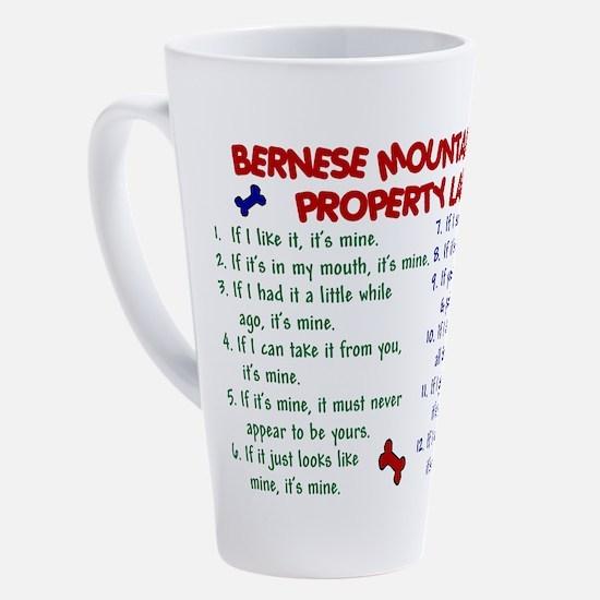 Cute Bernese mountain dog 17 oz Latte Mug