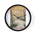 Love Under the Mistletoe Wall Clock