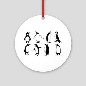 Penguins Round Ornament