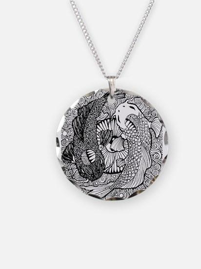 Yin yang koi necklaces yin yang koi dog tags necklace charms yin yang pisces necklace sciox Gallery