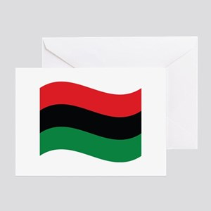 The Red, Black and Green Flag Greeting Cards
