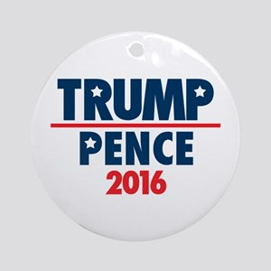Trump Pence for President Round Ornament