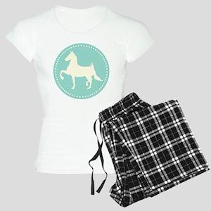 American Saddlebred horse silhouette pajamas