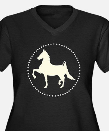 American Saddlebred horse silhouette Plus Size T-S