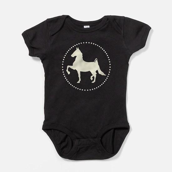 American Saddlebred horse silhouette Baby Bodysuit