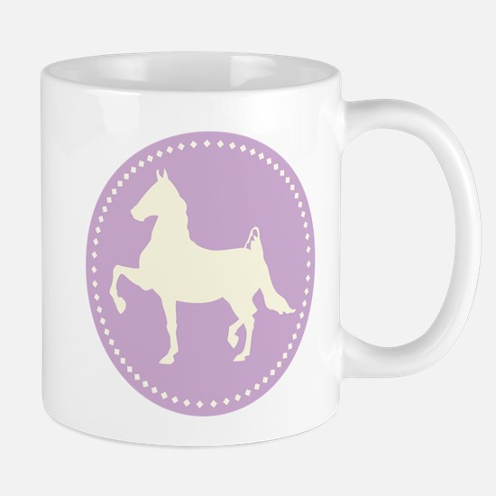 American Saddlebred horse silhouette Mugs