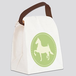 American Saddlebred horse silhouette Canvas Lunch